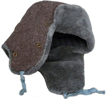A military issue Russian Ushanka fur hat, worn by soldiers during winter time