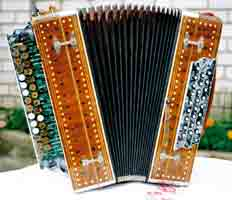Traditional Russian Bayan Button Accordion