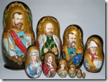 Nesting dolls depicting Russian nobility