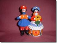 Czarist Era Dymkovo - small painted clay toys named after the town where they were originally made, date back to the Czarist period of Russia and are also still made in modern times