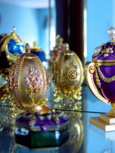 Faberge Egg in front of mirror