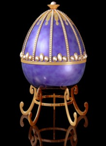 Highly decorative jeweled Russian Easter Egg